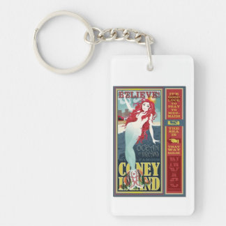redheaded coney island mermaid keychain