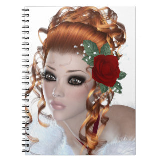 Redheaded girl notebook