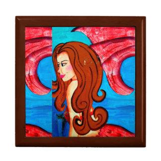 redheaded mermaid giftbox gift box