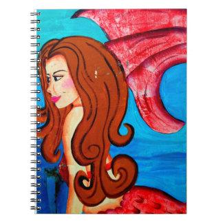 redheaded mermaid notebook