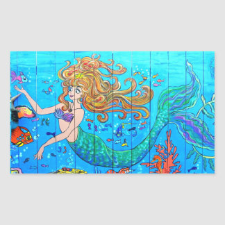 redheaded mermaid sticker