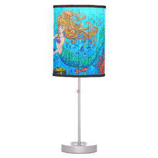 redheaded mermaid table lamp