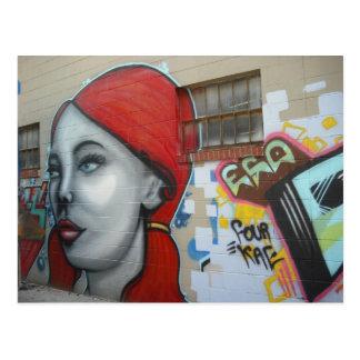 Redheaded Mystery Woman Postcard