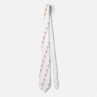 Redheaded Traditional Nurse Holding Clipboard Tie