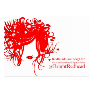 Redheads are Brighter Large Business Card