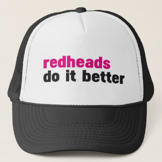 Redheads do it better trucker hat