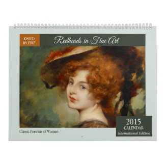 Redheads en calendario de pared de la bella arte