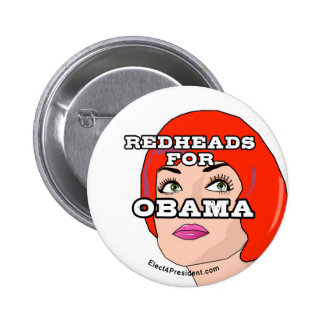Redheads for Obama Button