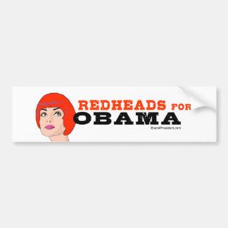 Redheads for Obama Sticker Car Bumper Sticker