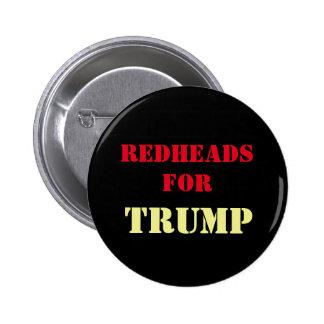 Redheads for TRUMP Campaign Button