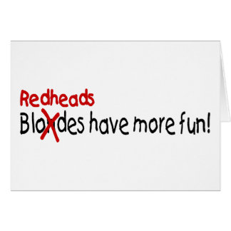 Redheads Have More Fun Cards