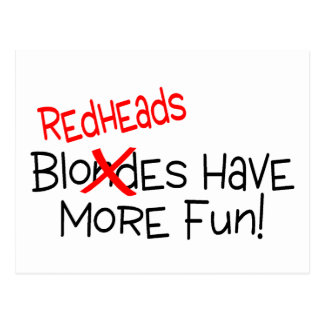 Redheads Have More Fun Postcards