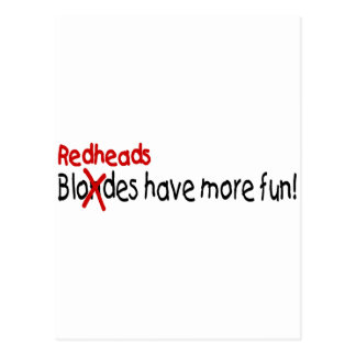 Redheads Have More Fun Post Cards
