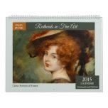 Redheads in Fine Art 2015 Wall Calendar