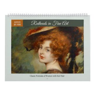Redheads in Fine Art Calendar