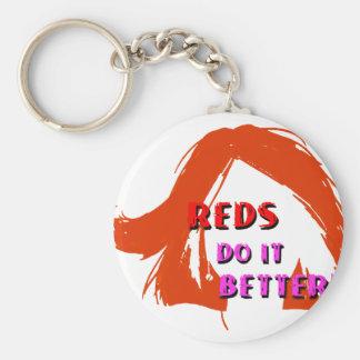 Redheads (orange) do it better basic round button keychain