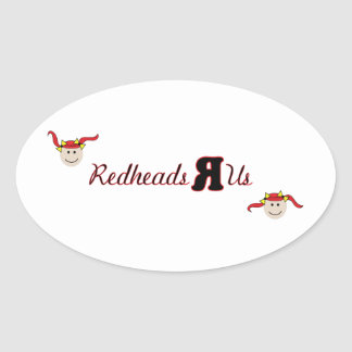 Redheads R Us Oval Sticker