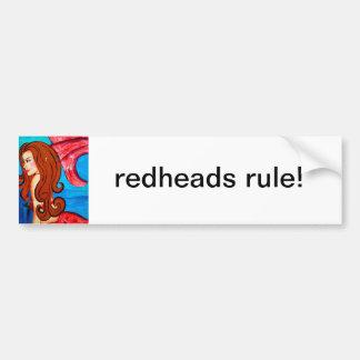 redheads rule bumper sticker