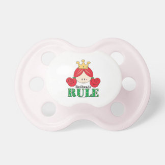 Redheads Rule Pacifier Pink