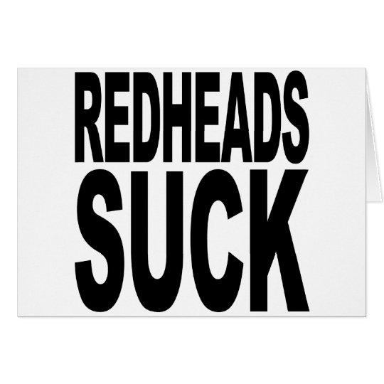 Redheads Suck Card