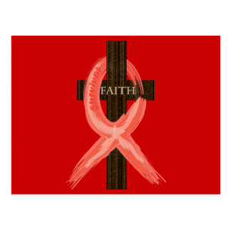 RedHeart Disease / AIDS / HIV Ribbon Postcard