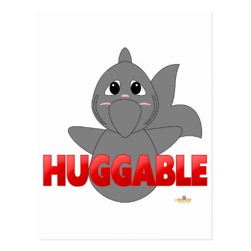 RedHuggableHuggableShark Tarjetas Postales