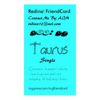 Redina's FriendCard - Customized -... - Customized Business Cards