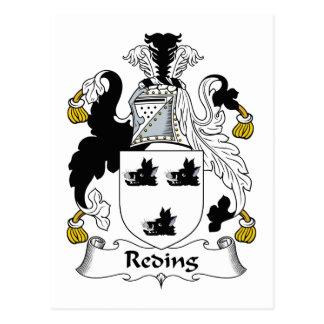 Reding Family Crest Postcard