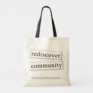 rediscover community tote bags
