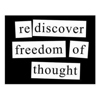 rediscover freedom of thought postcard