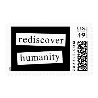 rediscover humanity postage