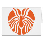 Redish Heart Shaped Spider Card