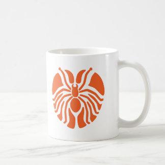 Redish Heart Shaped Spider Classic White Coffee Mug