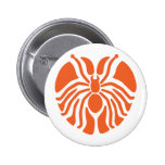 Redish Heart Shaped Spider Pinback Button