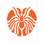 Redish Heart Shaped Spider Post Cards