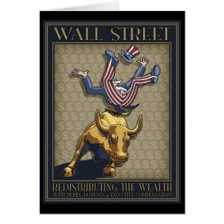 Redistribución de Wall Street Tarjeta De Felicitación