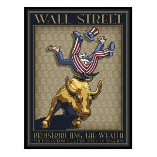 Redistribución de Wall Street Tarjetas Postales