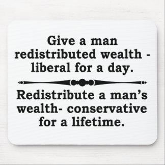 Redistribute wealth mousepad