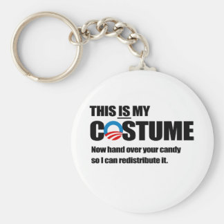 Redistribute your candy costume basic round button keychain