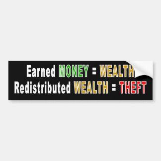 Redistributed Wealth bumper sticker Car Bumper Sticker