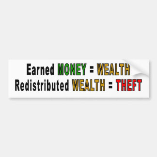 Redistributed Wealth bumper stickers
