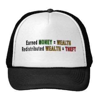 Redistributed Wealth caps Trucker Hat