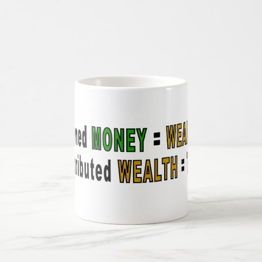 Redistributed Wealth mugs