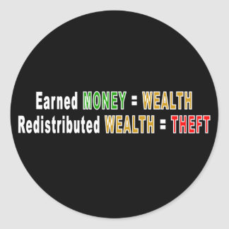 Redistributed Wealth stickers