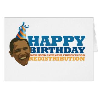 Redistribution* feliz tarjeta de felicitación