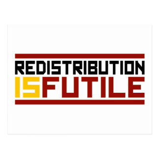 Redistribution is Futile Postcard