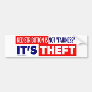 Redistribution is Theft Bumper Sticker