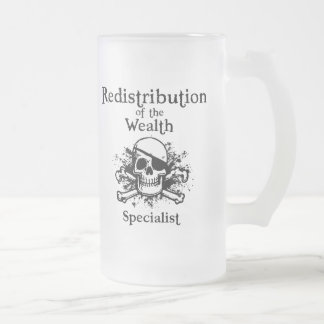 Redistribution Specialist Frosted Glass Beer Mug