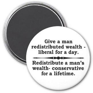 ¿Redistribuya la riqueza? imán