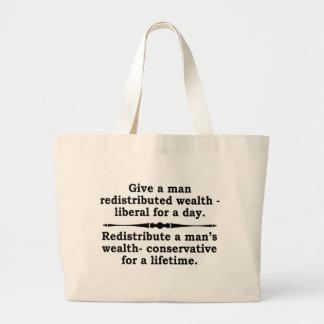 ¿Redistribuya la riqueza? tote Bolsas De Mano